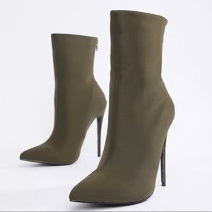 ASOS Shoes - ASOS Olive Green Booties